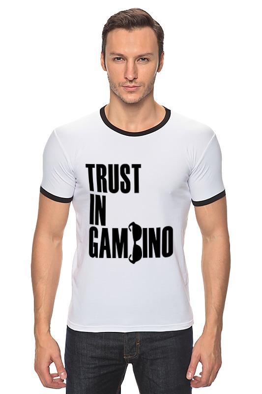 Футболка Рингер Printio Trust in gambino developing trust in ride sharing system