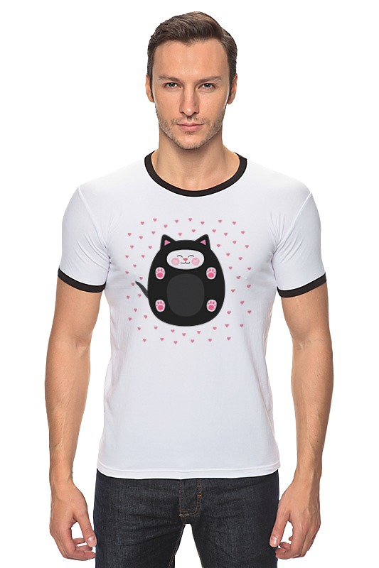 Футболка Рингер Printio милый котик футболка для беременных printio милый котик