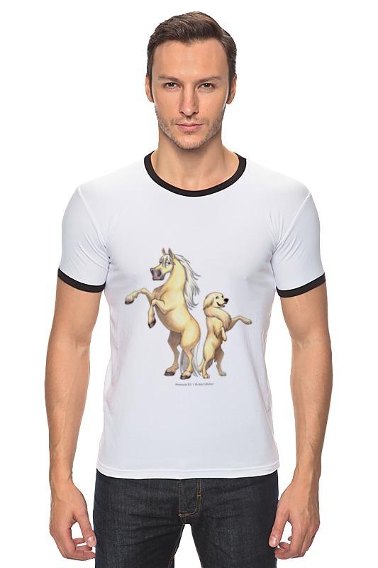 Футболка Рингер Printio Соловый пони/золотистый ретривер купить щенка золотистый ретривер в симферополе