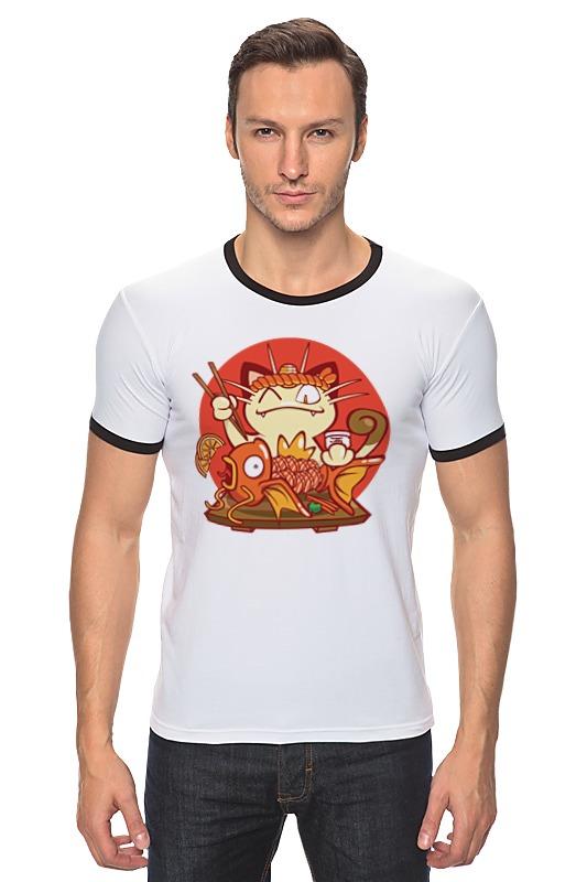 Футболка Рингер Printio Кот и золотая рыбка сумка printio кот и золотая рыбка