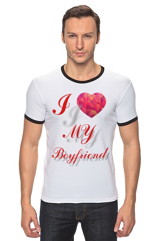 Футболка Рингер Printio I love my boyfriend сумка printio i love my boyfriend