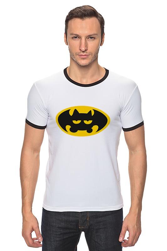 Футболка Рингер Printio Летучая мышь (бэтмен)