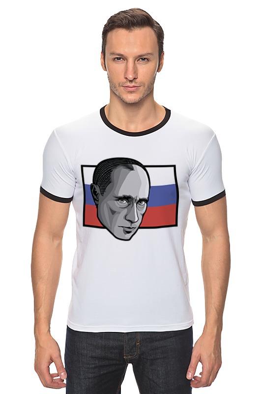 Футболка Рингер Printio Путин (россия) футболка рингер printio путин