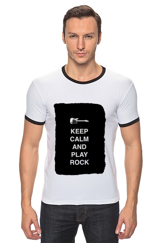 Футболка Рингер Printio Keep calm and play rock футболка wearcraft premium printio keep calm