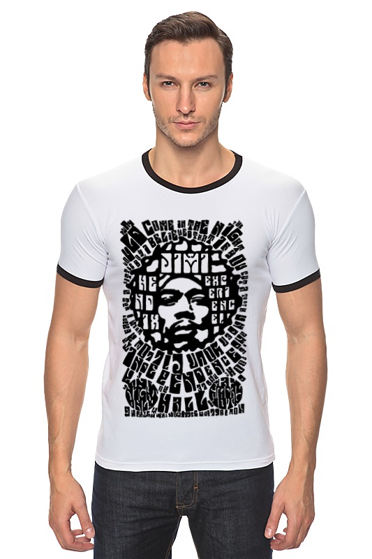 Футболка Рингер Printio Jimi hendrix футболка print bar jimi hendrix