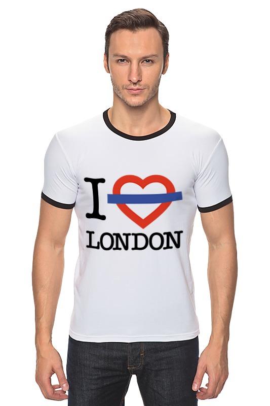 Футболка Рингер Printio Люблю лондон сейф я люблю лондон