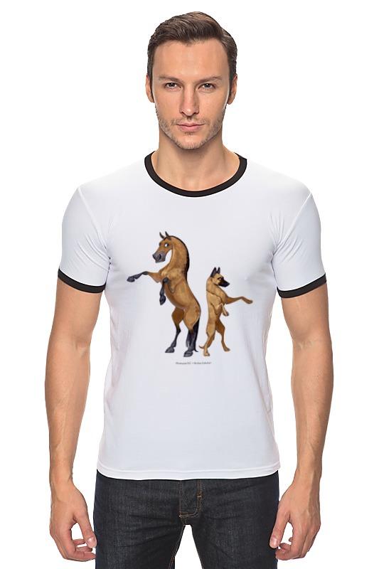 Футболка Рингер Printio Буланый пони/малинуа купить щенка тувинская и бельгийская овчарка в екатеринбурге