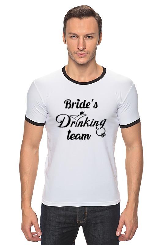 Футболка Рингер Printio Bride's drinking team ян сестры и пион букеты букеты невесты держа букет подружек невесты держа чай роза