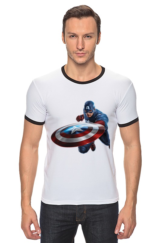 Футболка Рингер Printio Капитан америка (captain america) центральна америка