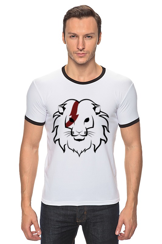 цена Футболка Рингер Printio Лев (lion) онлайн в 2017 году