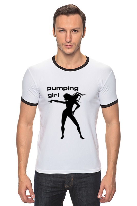 Футболка Рингер Printio Pumping girl #1 футболка рингер printio tatoo girl