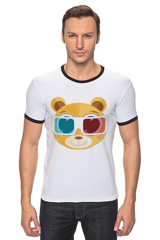 Футболка Рингер Printio Медведь 3д плитка для кухни 3д