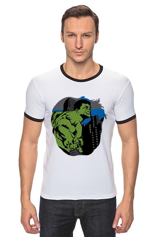 Футболка Рингер Printio Халк (hulk) лонгслив printio халк hulk