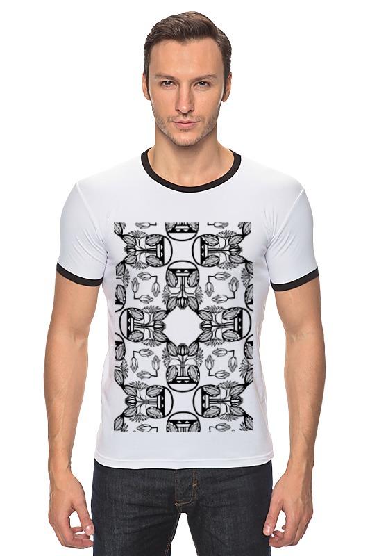 Футболка Рингер Printio Индийские мотивы футболка рингер printio черно белый питер