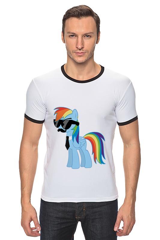 Футболка Рингер Printio My little pony - rainbow dash (радуга) хасбро hаsbro b3604 b8074 my little pony игровой мейнхеттен rainbow dash