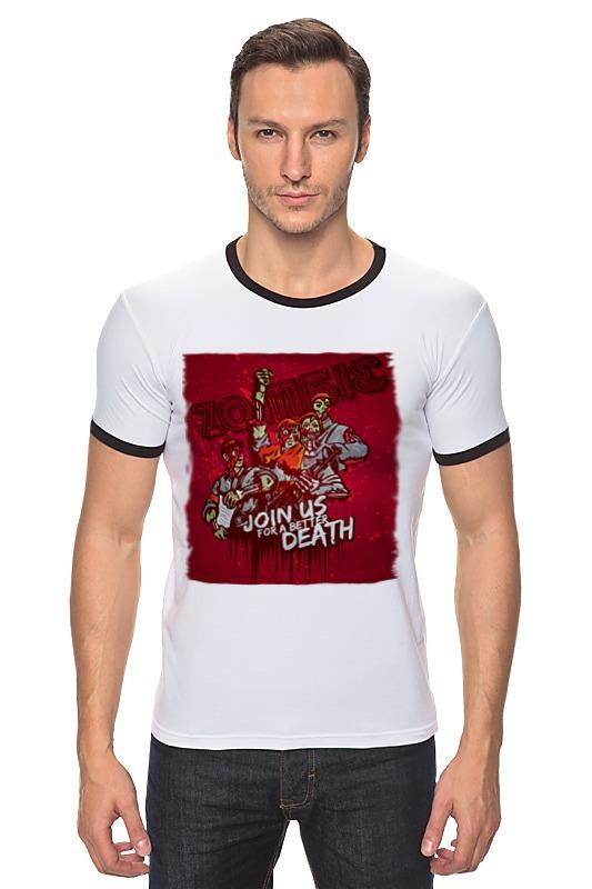 Футболка Рингер Printio Зомби советского союза