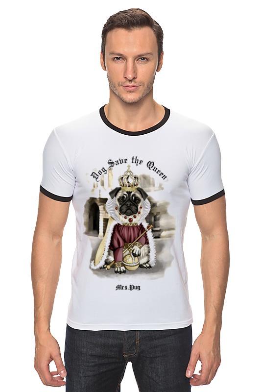 Футболка Рингер Printio Mrs. pug футболка wearcraft premium printio mrs pug