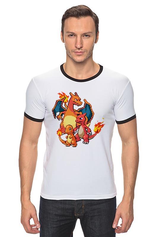 Футболка Рингер Printio Покемоны 8-бит (драконы) футболка print bar китайские драконы