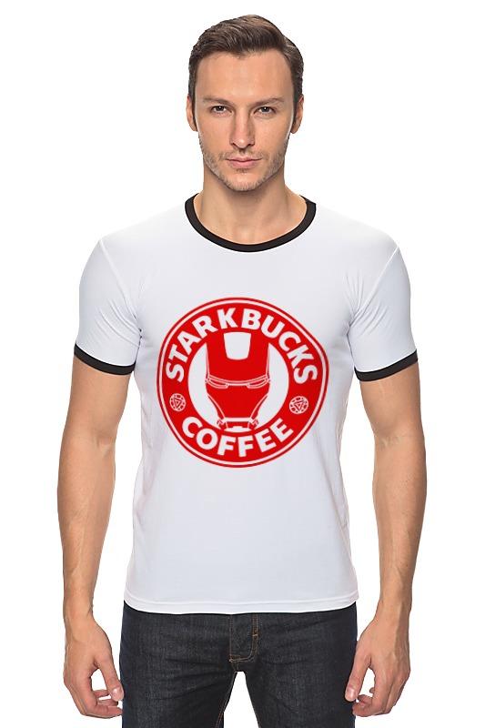 Футболка Рингер Printio Stark bucks coffee (iron man) футболка классическая printio stark bucks coffee iron man