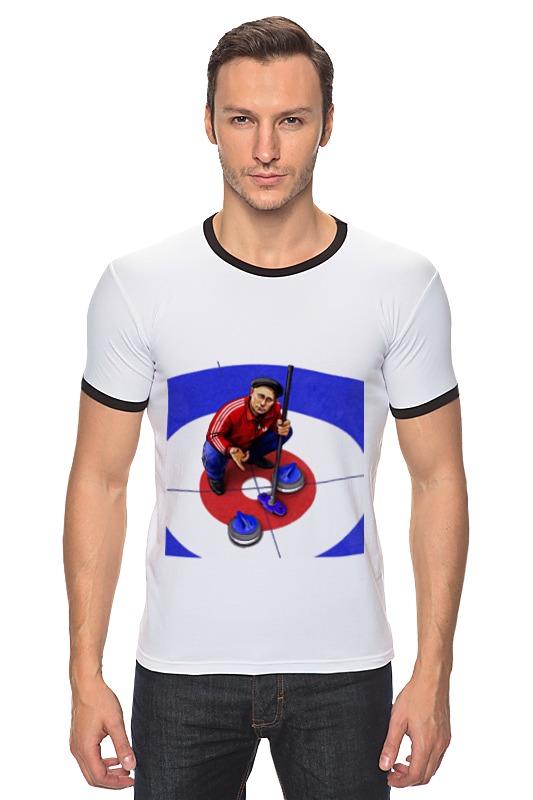 Футболка Рингер Printio Путин - кёрлинг футболка рингер printio путин