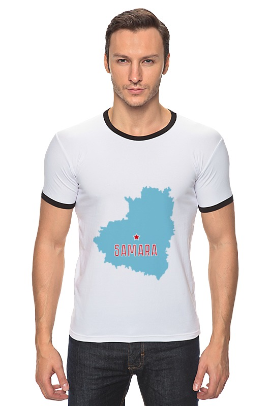 Футболка Рингер Printio Самарская область. самара