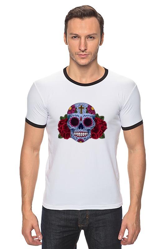 Футболка Рингер Printio Мексиканский череп футболка рингер printio череп