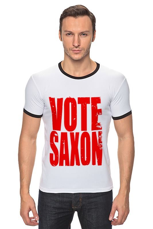 Футболка Рингер Printio Vote saxon (doctor who) футболка классическая printio vote saxon doctor who