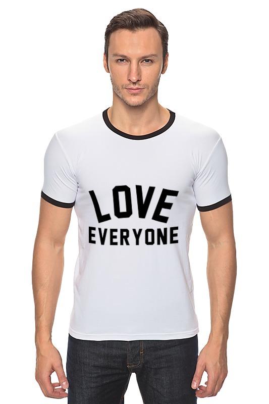 Футболка Рингер Printio Любить всех футболка для беременных printio любить всех