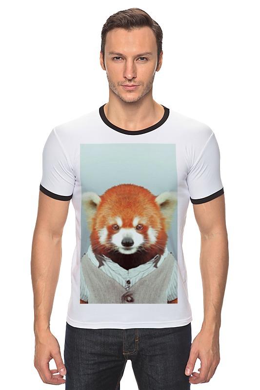 Футболка Рингер Printio Деловая панда