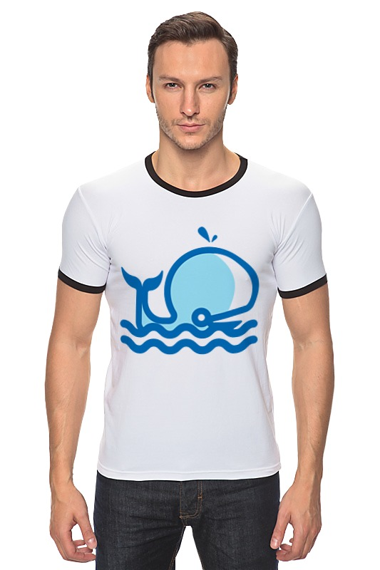 Футболка Рингер Printio Кит на море футболка рингер printio кит ричардс