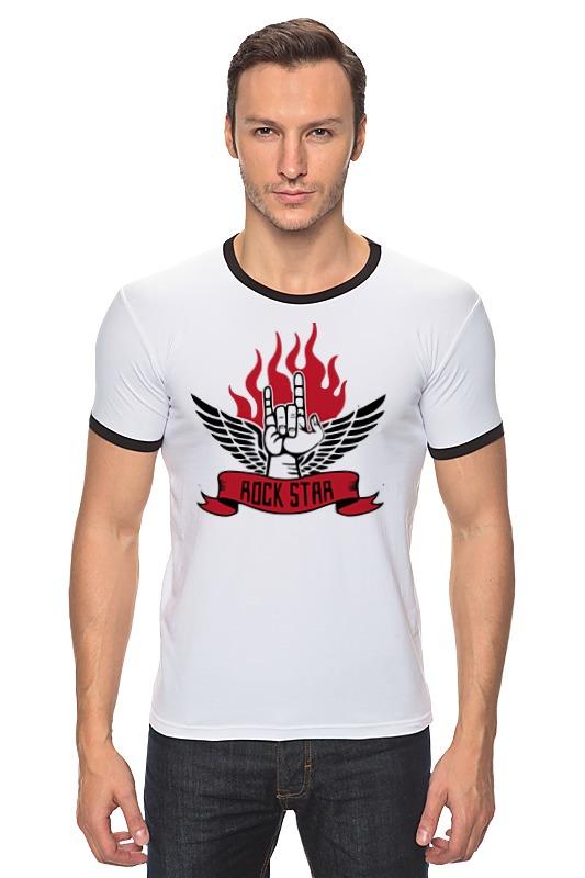все цены на Футболка Рингер Printio Rock star (рок звезда) онлайн