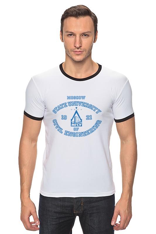 Футболка Рингер Printio Футболка женская мгсу футболка magnetiq футболка