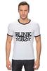 "Футболка Рингер ""blink182 star"" - punk rock, blink-182, blink 182"