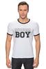 """Футболка Рингер """"RUSSIAN BOY"""" - парню, russian, boy, русский мальчик"""