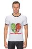 """Футболка """"Рингер"""" (Мужская) """"GO VEGGIE!"""" - вегетарианец, сыроед, овощи, veggies"""
