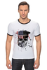 "Футболка Рингер ""Америка"" - skull, череп, америка, usa"