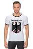 """Футболка """"Рингер"""" (Мужская) """"Германия"""" - страны, герб, символика, германия"""