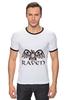 "Футболка Рингер ""Raven Brand"" - ворон, raven brand, бренд ворон, voron"