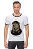 "Футболка ""Рингер"" (Мужская) ""made in USSR"" - bear, ссср, медведь, россия, russia, патриотические футболки, арт медведь, russian bear, made in ussr"