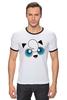 "Футболка ""Рингер"" (Мужская) ""Jigglypuff (Покемон)"" - pokemon, покемон"