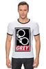 """Футболка Рингер """"50 оттенков серого (Fifty Shades of Grey)"""" - sex, бдсм, obey, наручники, 50 оттенков серого"""