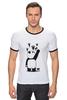 """Футболка Рингер """"Панда вандал"""" - wwf, животные, панда, panda"""
