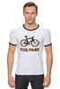 """Футболка Рингер """"Pixel power           """" - велосипед, пиксель арт, pixel art"""