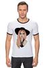 "Футболка ""Рингер"" (Мужская) ""Lady Gaga                    "" - музыка, арт, авторские майки, style, стиль, рисунок, поп, swag, lady gaga, леди гага"