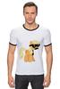 """Футболка Рингер """"My Little Pony - AppleJack (ЭпплДжек)"""" - pony, mlp, my little pony, пони, усы"""