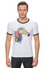 """Футболка """"Рингер"""" (Мужская) """"My zebra"""" - животные, зебра, zebra, полосы, цветнаязебра, животные полосы"""