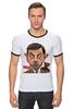 "Футболка ""Рингер"" (Мужская) ""Mr.Bean"" - мистер бин, mr bean, актёр, роуэн аткинсон, rowan atkinson"