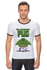 """Футболка """"Рингер"""" (Мужская) """"Невероятный Мопс"""" - pug, hulk, мопс, халк, невероятный мопс"""
