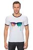 """Футболка Рингер """"Очки Психоделики"""" - lsd, лсд, nerd, очки психоделики"""