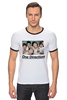 "Футболка Рингер ""One direction"" - поп, one direction, teen pop, бой-бэнд"